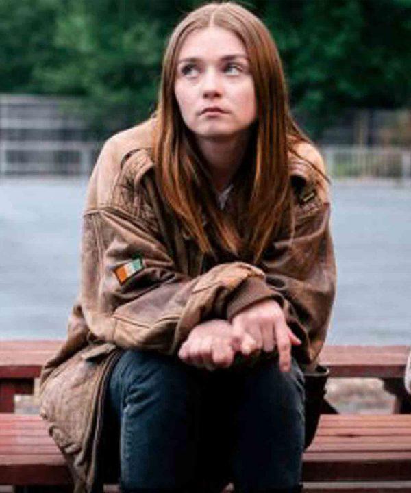 jessica-barden-leather-jacket
