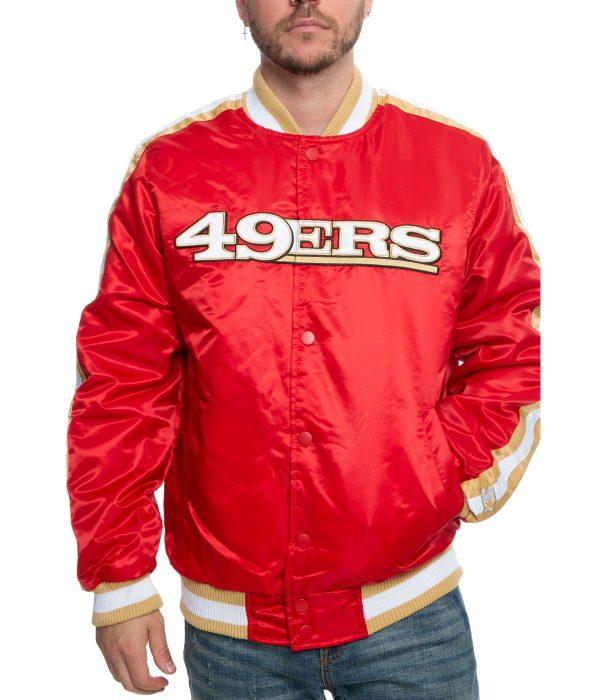 49ers-san-francisco-red-satin-varsity-jacket