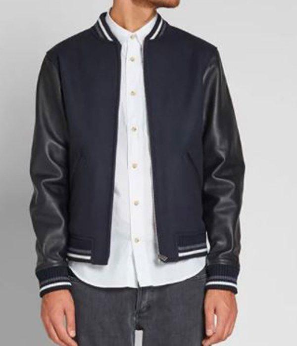 a.p.c-copper-navy-blue-varsity-jacket
