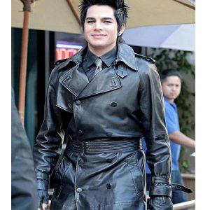 adam-lambert-black-leather-trench-coat