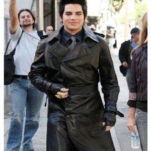adam-lambert-trench-leather-coat