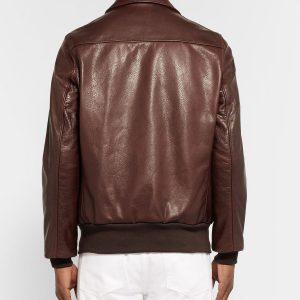 adam-spencer-brown-leather-bomber-jacket