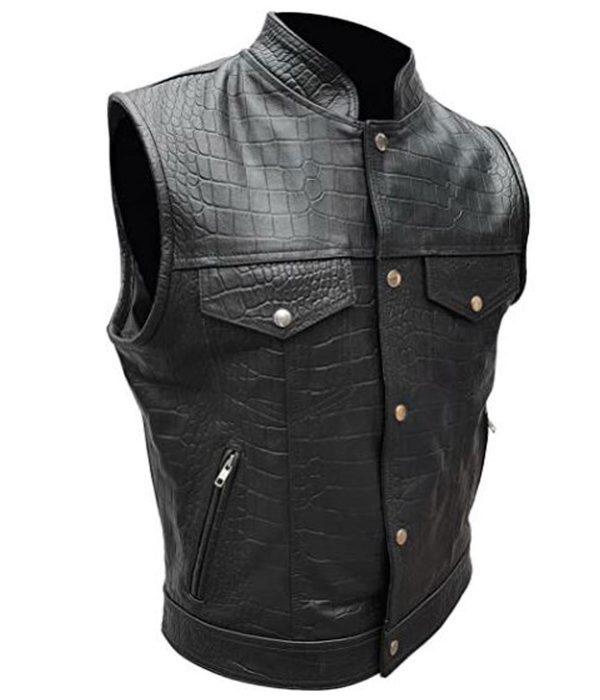 alligator-black-leather-vest
