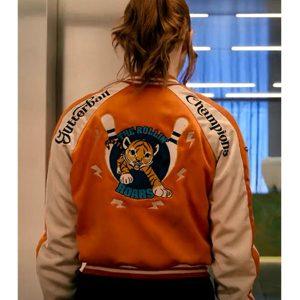 karen-gillan-gunpowder-milkshake-bomber-jacket