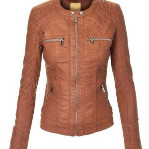 womens-brown-faux-leather-zip-up-jacket-with-hood