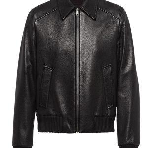 elasticated-leather-jacket