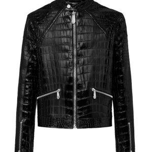 mens-black-alligator-leather-jacket